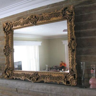 gold frame mirror  BUY IT NOW $ 85.00