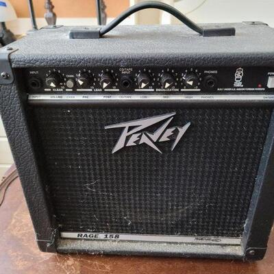 Peavey Rage 158 Amplifier. Excellent Condition, spiderwebs included.  https://ctbids.com/#!/description/share/768226