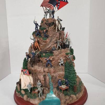 Hawthorne Village Great Battles of The Civil War masterpiece tabletop #A0048 2007. Statue features scenes from Battle of Wilderness,...