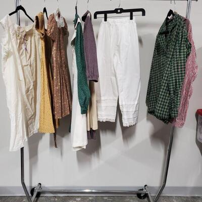 Children's collection of Civil War Reenactment clothing. Includes dresses, shirts and more. Dresses appear to be small, boys shirt are...