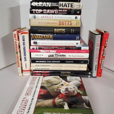 Large collection of hardcover books of the Georgia Bulldogs and Vince Dooley and other miscellaneous books....