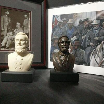 The first artwork appears to be a copy of a photo of Robert E. Lee. It measures 11