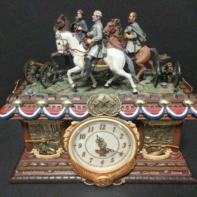 2006 Bradford Exchange Timeless Glory Mantle clock.  Limited-Edition No. A0953. Measures 13