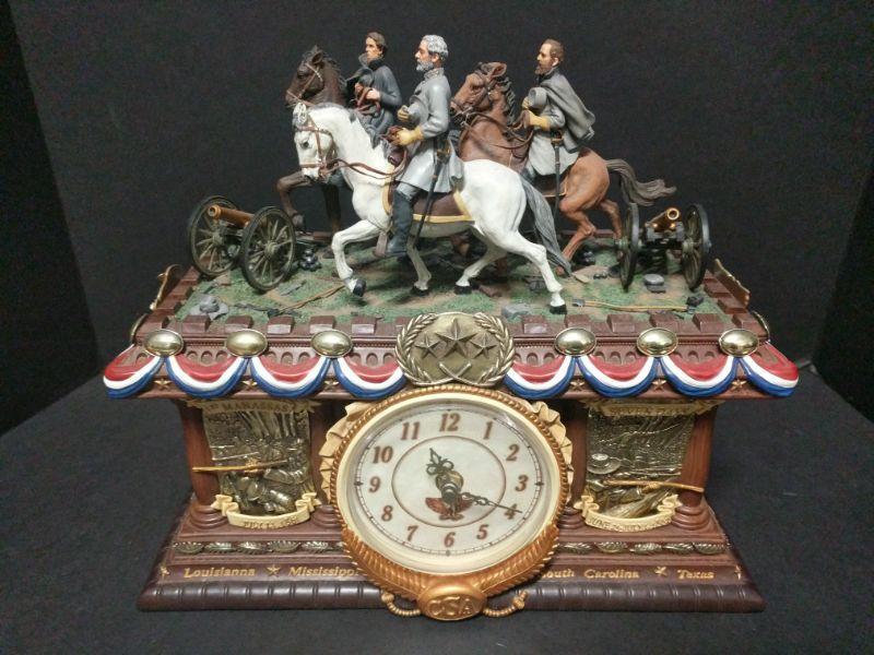 "2006 Bradford Exchange Timeless Glory Mantle clock.  Limited-Edition No. A0953. Measures 13""x8""x12"". https://ctbids.com/#!/description/share/768452"