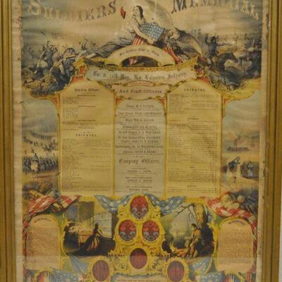 KY Civil War memorial poster, New Haven, KY