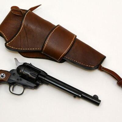 Ruger .22 Magnum revolver with holster