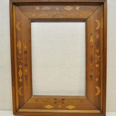 1896 Handcrafted frame supposedly made from wood of Civil War era ships USS Monitor and Merrimack