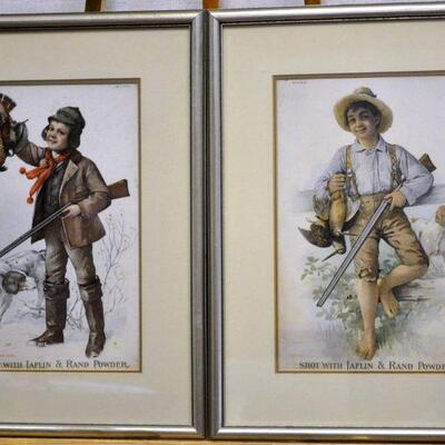 Old hunting advertising prints
