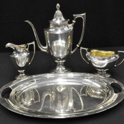 Sterling silver tea service set