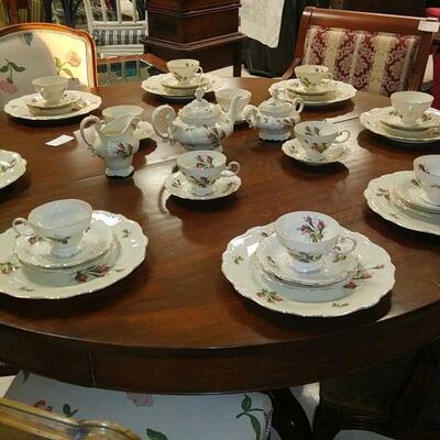 pompadour china set  sale 250.00