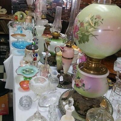 victorian banquet lamps RW all half price