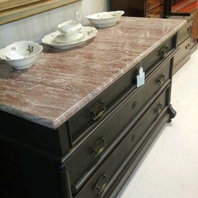 Marble Top Dresser   Sale 200.00