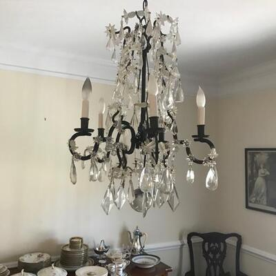 Antique French crystal chandelier $850 20 X 28