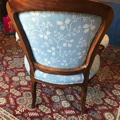 Reproduction of French 18th century Louis XV  fauteuil [armchair with hand carved flower decor $450