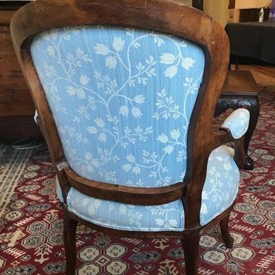 French 18th century Louis XV  fauteuil [armchair with hand carved flower decor $895