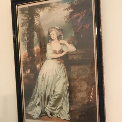 19th century print $95
