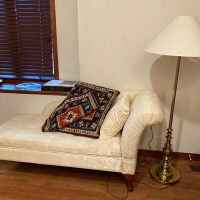 Chaise lounge & pillows