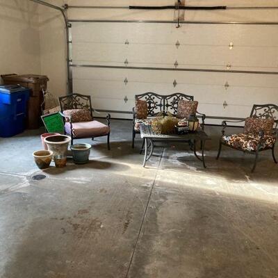 Patio furniture & pots