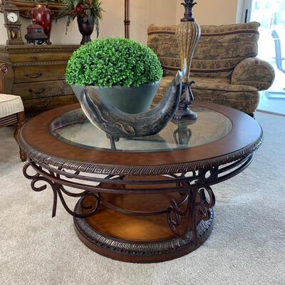 Round coffee table is 39