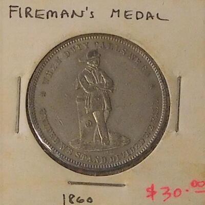 1860 Fireman's Medal