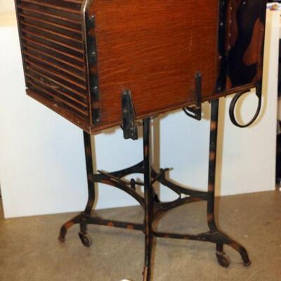 Antique Industrial Typewriter Stand Circa 1910