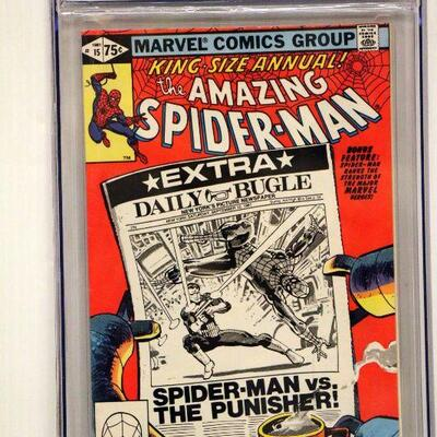 CGC Graded 9 Spiderman Annual #15 Comic