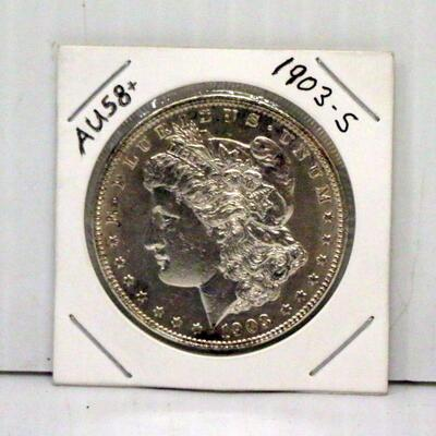 1903 S Morgan Silver Dollar Coin AU58+