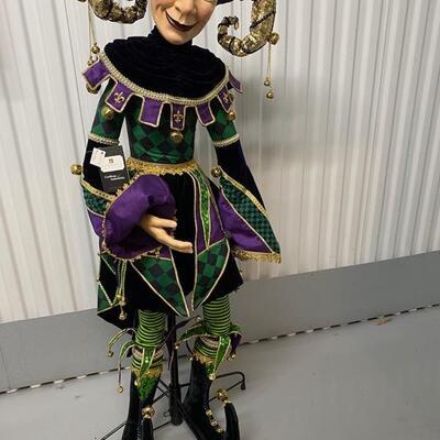 Life-size Katherine's Studio Crafted Mardi Gras Jester