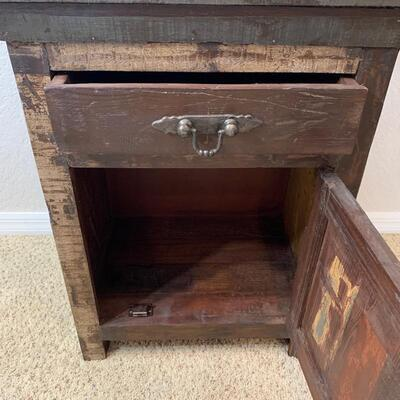 Distressed cabinet w/drawer measures 23