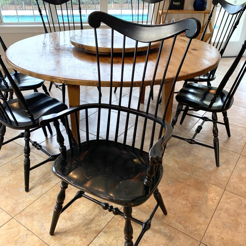Vintage fan-back Windsor chair. PAIR AVAILABLE