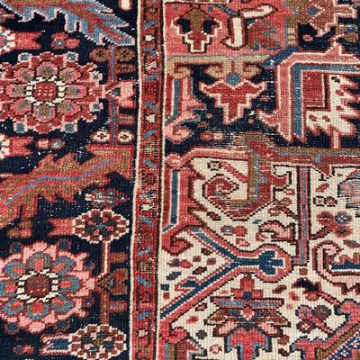 Vintage rug measures 106