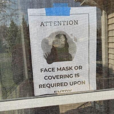 Masks or shields required