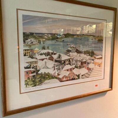 Bermuda numbered print by Jill Amos Reine