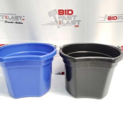 3  Two (2) 8 Qt Flat back bucket, 8.5