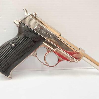428  Nazi Walther P38 Semi-Auto Pistol CA OK Serial Number: 99529 Barrel Length: 4.25