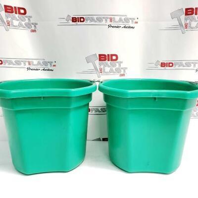 6  Two (2) 20 Qrt. Flat back bucket, 11