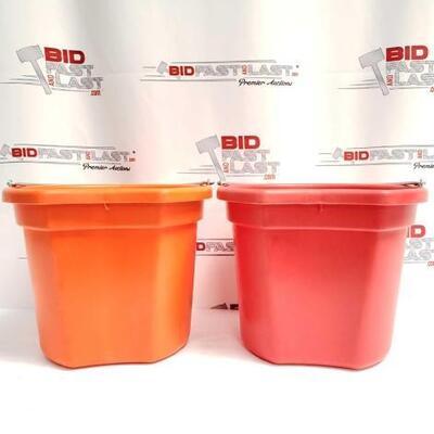 7  Two (2) 20 Qrt. Flat back bucket, 11