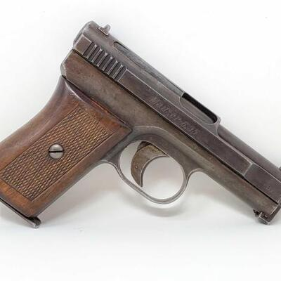 434	 436	  Mauser 1910 (2nd Variant, New Model 1910/14) 6.35mm (25ACP) Semi-Auto Pistol CA OK  Serial Number: 315205 Barrel Length: 3