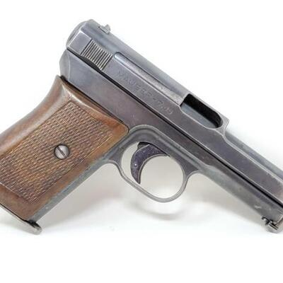 434  Mauser 1914 (4th Variant) 7.65mm (32ACP) Semi-Auto Pistol CA OK  Serial Number: 298160 Barrel Length: 3.5