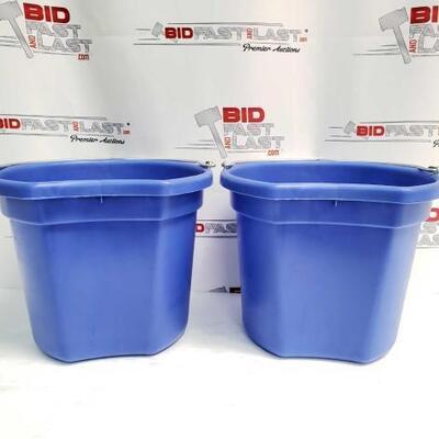 5  Two (2) 20 Qrt. Flat back bucket, 11