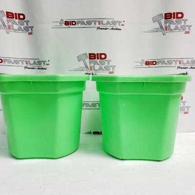 8  Two (2) 20 Qrt. Flat back bucket, 11