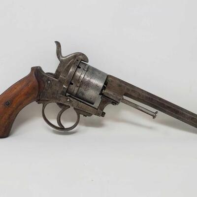 514  Belgian Antique Meyers Brevete Pinefire Revolver Barrel Length: 6