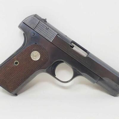 412  Colt 1903 .32 Cal Semi-Auto Pistol Serial Number: 498612 Barrel Length: 4