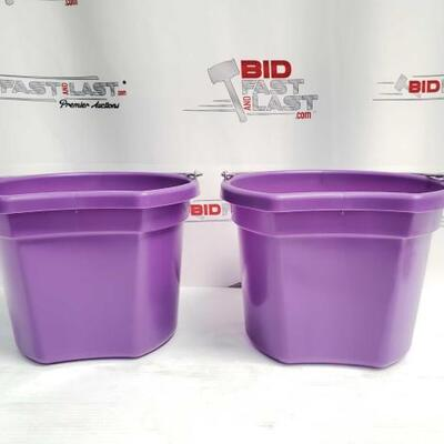 4  Two (2) 8 Qt Flat back bucket, 8.5
