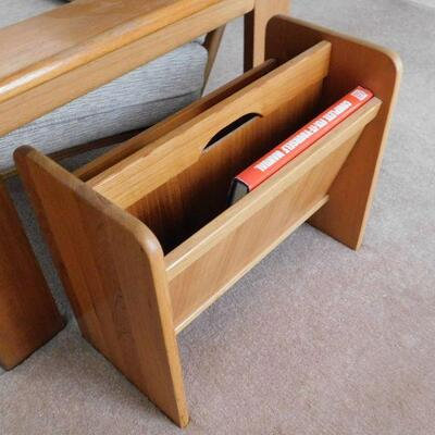 Contemporary  Teak Magazine rack