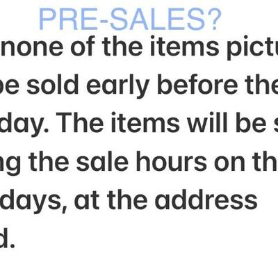 """FAQ: """"Can I buy it before the sale dates?"""""""