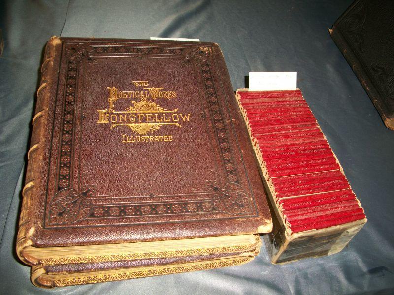 1878 2 Volume Leather Folio Set Longfellow