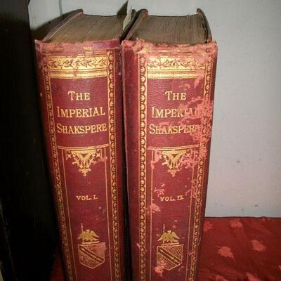 1883 2 Giant Folio Volumes Imperial Shakespeare