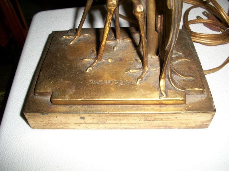 Paul Herzel lamp - marked