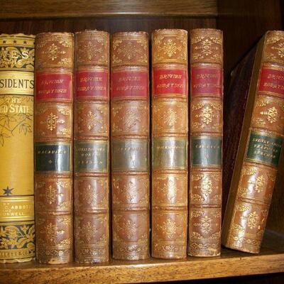 1871 - 6 Volume Leather Set - British Essayists